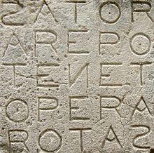 Il Quadrato del Sator a Oppede