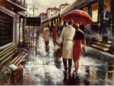 Metropolitan Station Stampa artistica di Brent Heighton